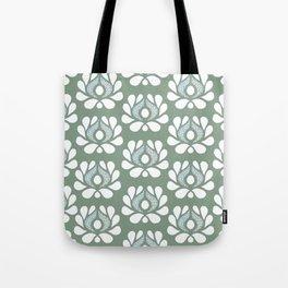 Waratah on olive Tote Bag