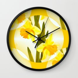 Spring Yellow Flowers #decor #society6 #buyart Wall Clock