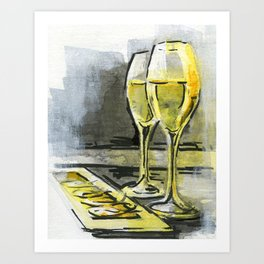 Cava in Barcelona Art Print