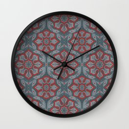 Flowers and laurels Wall Clock