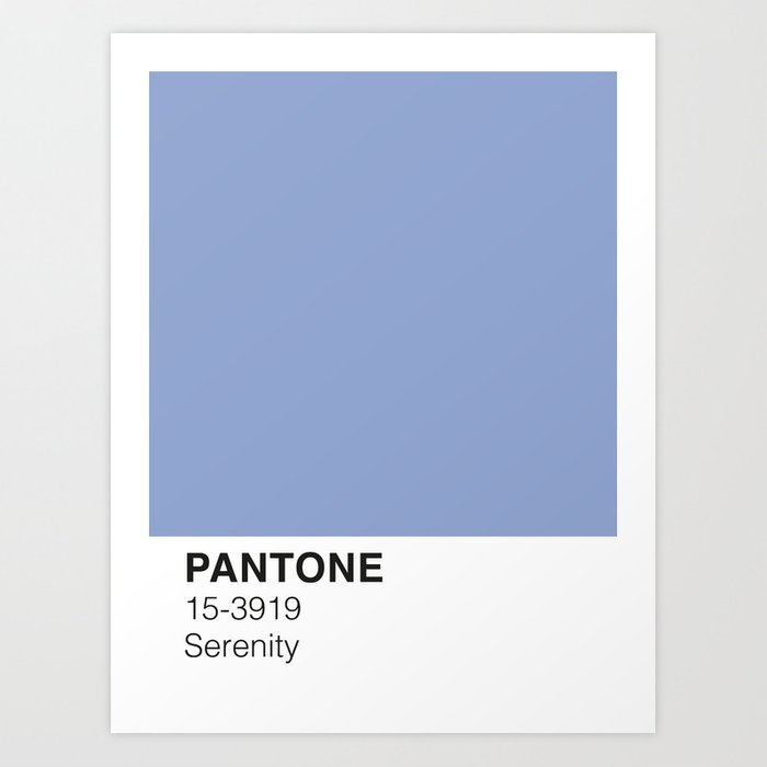 Serenity Pantone Kunstdrucke