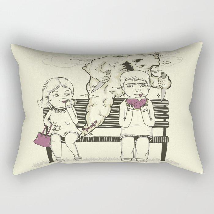 Silent But Deadly (SBD) Rectangular Pillow