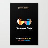 reservoir dogs Canvas Prints featuring Minimal Reservoir Dogs Poster by Mahdi Chowdhury