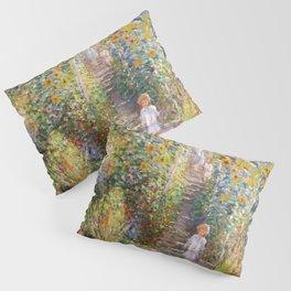 Monets Garden at Vetheuil Pillow Sham