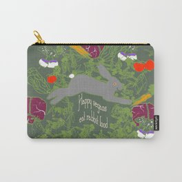 Happy Vegans Eat Rabbit Food 2 Carry-All Pouch