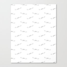 Flying Fuck - White - Pattern Canvas Print