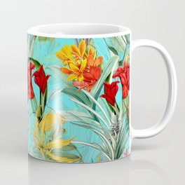 Vintage & Shabby Chic - Colorful Tropical Blue Garden Coffee Mug