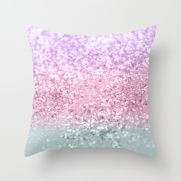 Unicorn Girls Glitter #7a #shiny #pastel #decor #art #society6 Throw Pillow