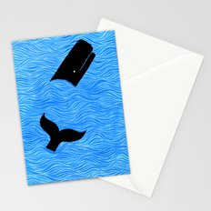 Whale in the Sea Stationery Cards