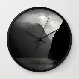 Black Cliffs Wall Clock