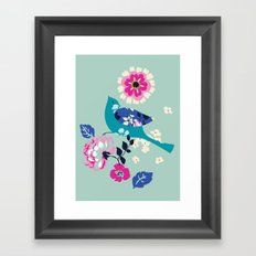 Birds and Blooms 3 Framed Art Print