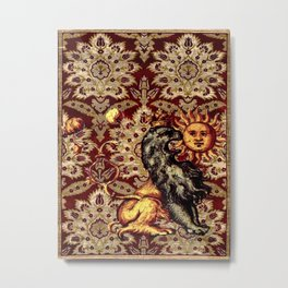 Alchemical Lion - Garden of Beasts Collection Metal Print