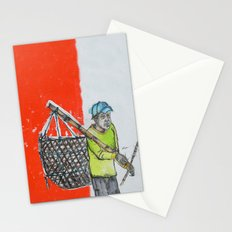 Seaweed Farmer - Island of Bali - Carrying the days Catch Stationery Cards