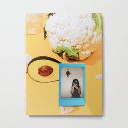 Avocado and flowers Metal Print