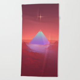 Blue Pyramid Beach Towel