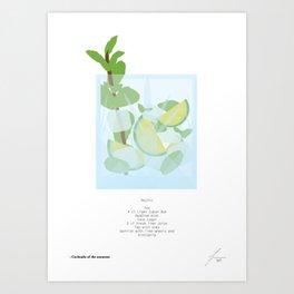 Mixology Cocktail Poster Mojito Art Print
