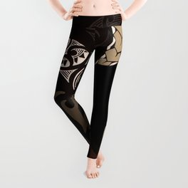 Hawaiian Tapa Fish Hook and Honu Leggings