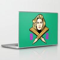 buffy the vampire slayer Laptop & iPad Skins featuring '92 Slayer  by IBTrav Pop Shop