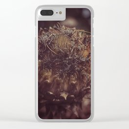 Dead Flower Clear iPhone Case