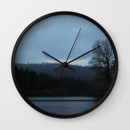 Morning Over The Invisible Lake Wall Clock