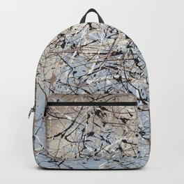 High Again - Jackson Pollock style abstract drip painting by Rasko Backpack