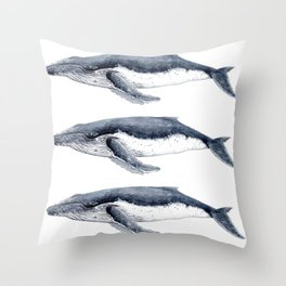Humpback whale (Megaptera novaeangliae) Throw Pillow