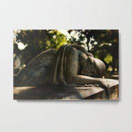 Weeping Angel in Calvary Cemetery Metal Print