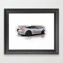 Cars: 911 Porsche Carrera GTS Framed Art Print