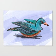 Foolish bird Canvas Print