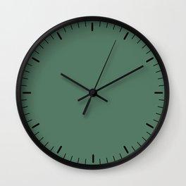 Green little marks Wall Clock