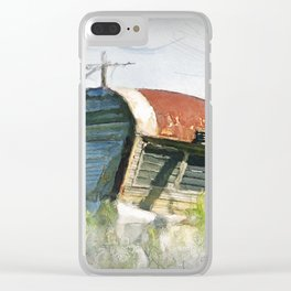 liberty in rust, backwoods Maine Clear iPhone Case