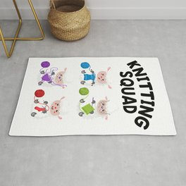 Gift For Knitter Yarn Sheep Knit Crafter Knitting Lover T-Shirt Rug