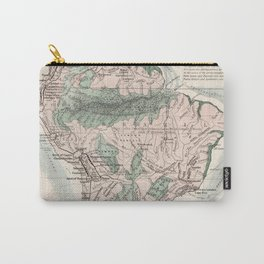 Vintage Map of South America (1858) Carry-All Pouch
