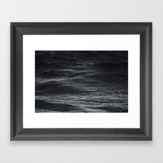 Dark ocean #ocean waves Framed Art Print