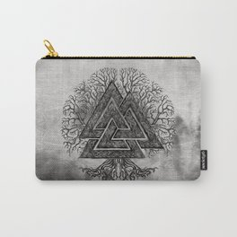 Valknut and Tree of Life Yggdrasil Carry-All Pouch