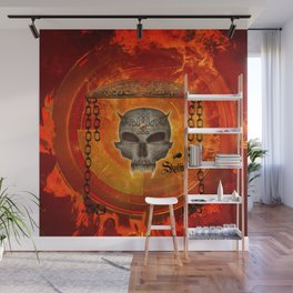 Awesome skull with celtic know Wall Mural