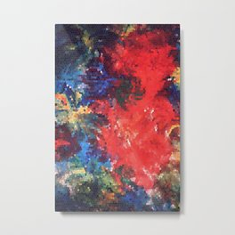 Explosions Inside a Painting (ID259) Metal Print