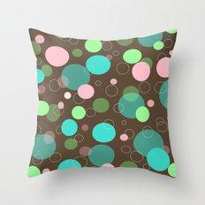 Polka Dot Party Throw Pillow