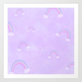 Soft Rainbows Art Print