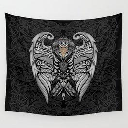 White Bird Aztec Pattern Wall Tapestry