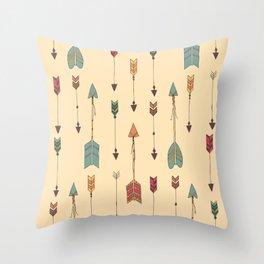 Bohemian hand drawn arrows, 01 Throw Pillow