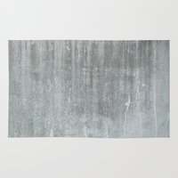 concrete Area & Throw Rugs featuring CONCRETE by HUXHUX