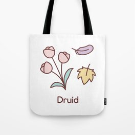 Cute Dungeons and Dragons Druid class Tote Bag