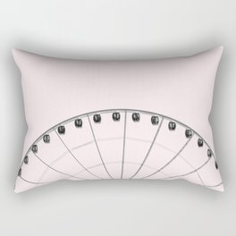 Ferris Wheel on Pink Rectangular Pillow