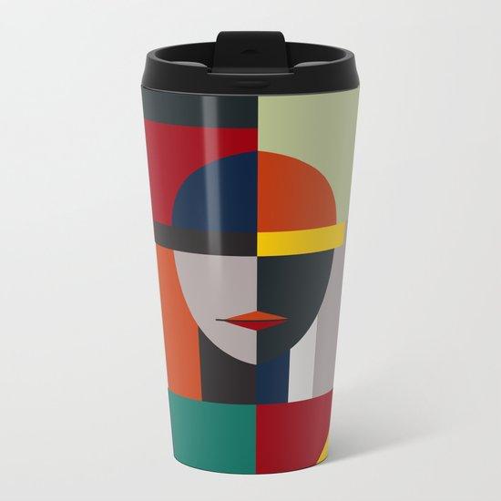 NAMELESS WOMAN Metal Travel Mug