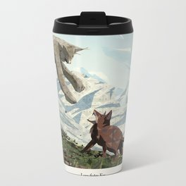 Shelter 2 - Lynx fights Fox Metal Travel Mug