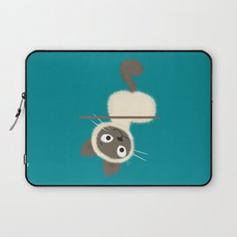 Funny Siamese Kitten upside down Laptop Sleeve