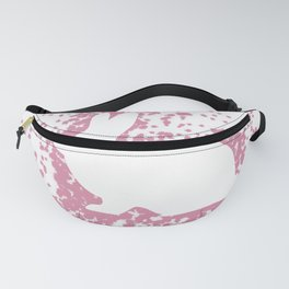 Pink Bunny Silhouette Fanny Pack