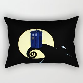 tardis  under the full moon Rectangular Pillow