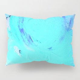 Neon Winter Rose, Abstract In Nature, Ice Blue Pillow Sham